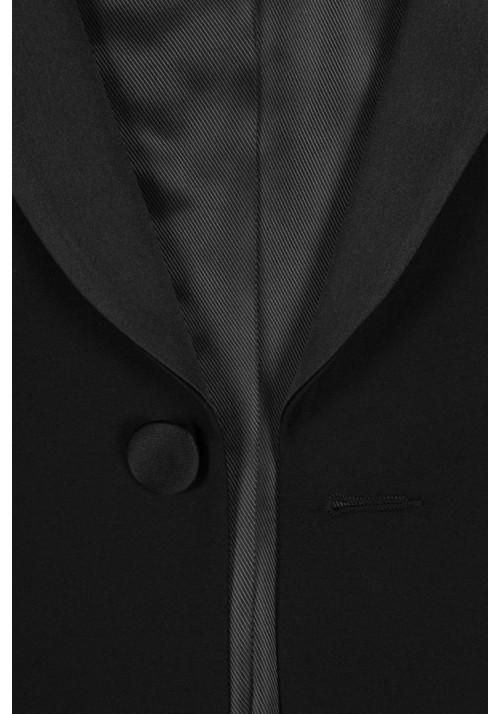 Garnitur ślubny szalowy czarny