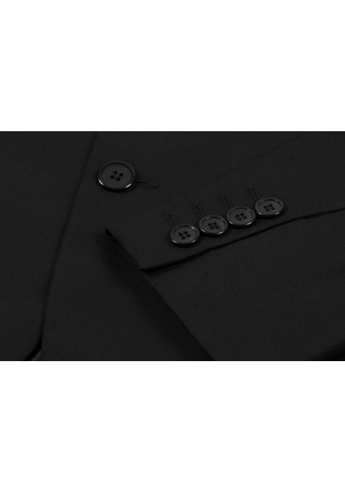 Garnitur czarny na 2 guziki (Vip Slim II)